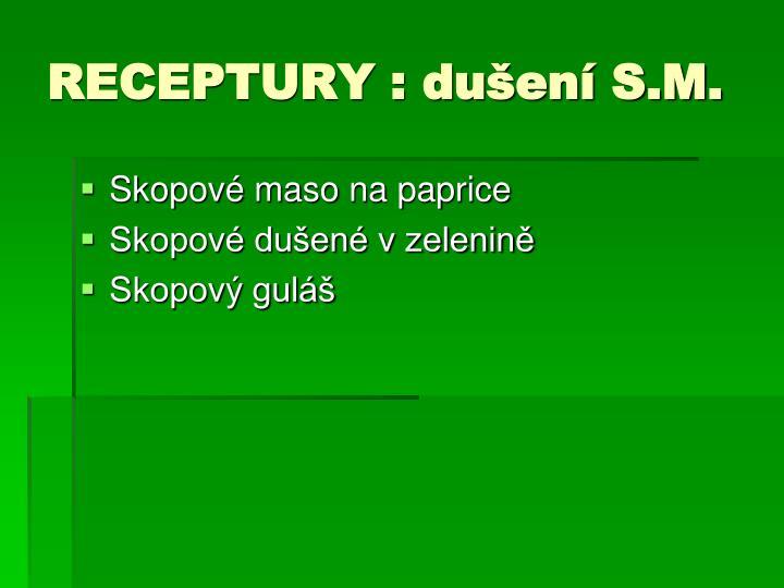 RECEPTURY : dušení S.M.