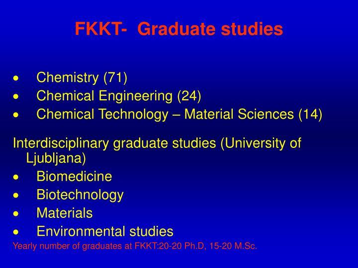 FKKT-  Graduate studies