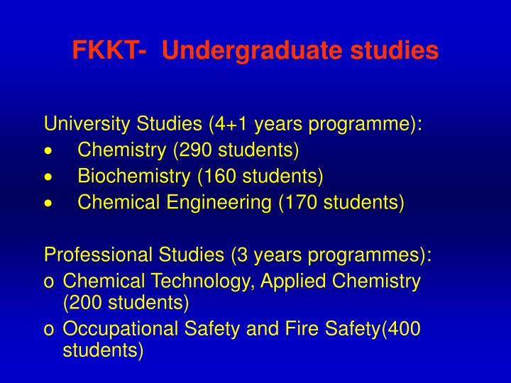 FKKT-  Undergraduate studies