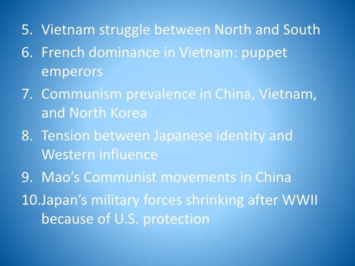 Vietnam struggle between North and South