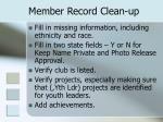 member record clean up1