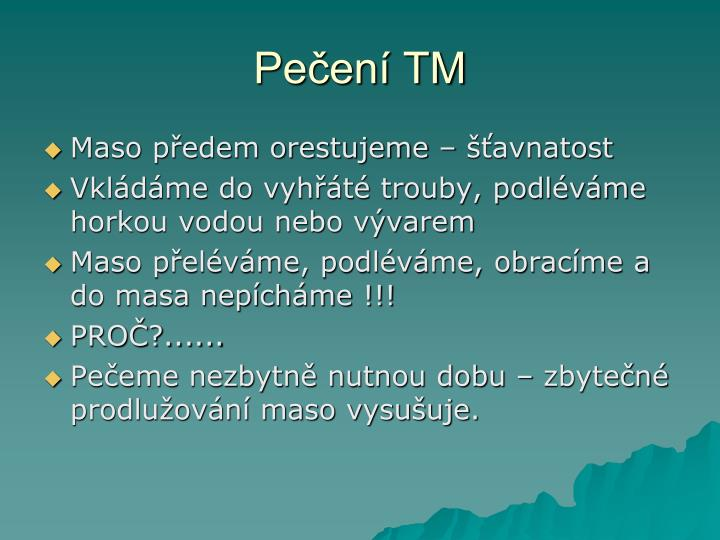 Pečení TM