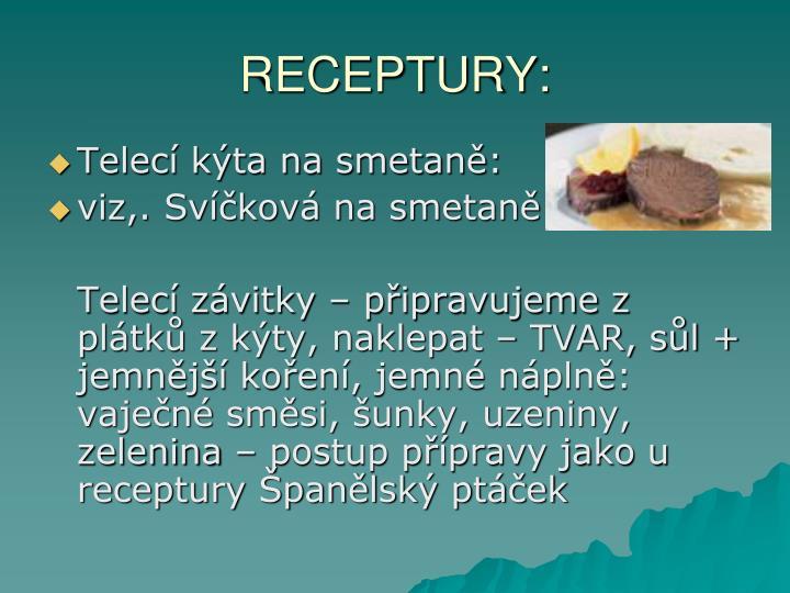 RECEPTURY:
