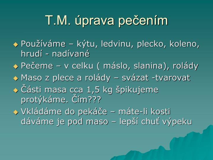 T.M. úprava pečením
