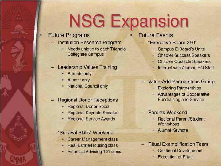 NSG Expansion