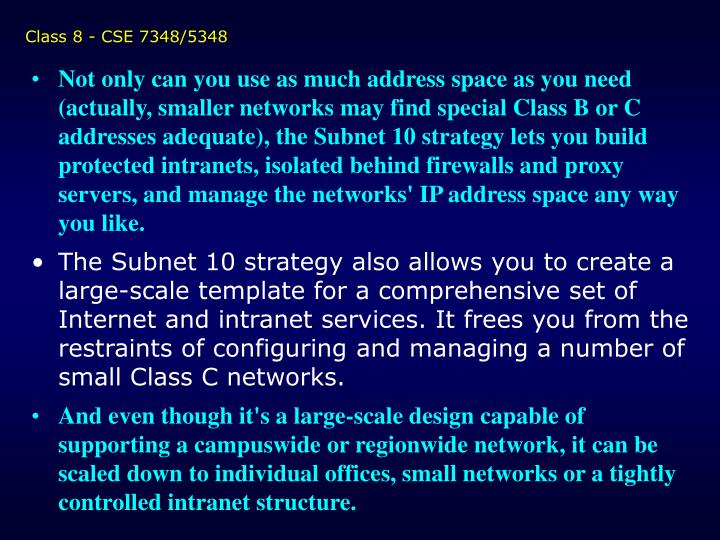 Class 8 - CSE 7348/5348