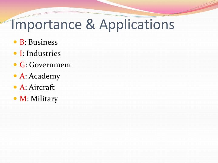 Importance & Applications