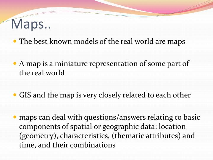 Maps..