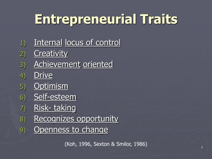 Entrepreneurial Traits