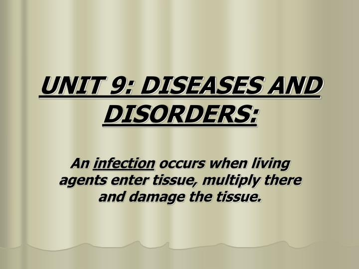 Unit 9 diseases and disorders