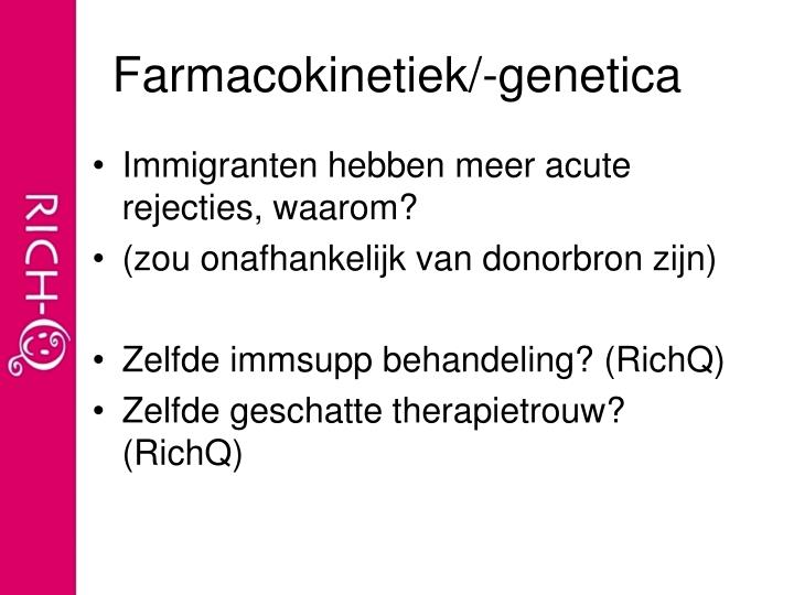 Farmacokinetiek/-genetica