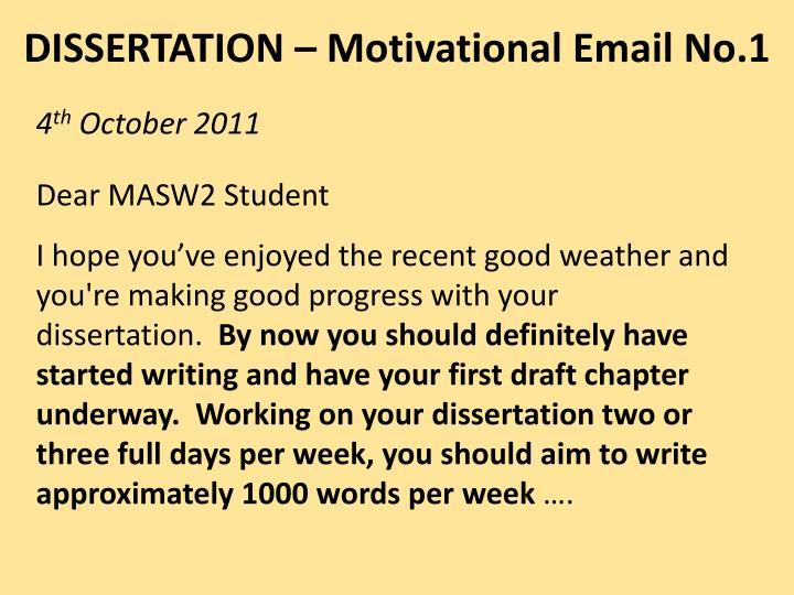 DISSERTATION – Motivational Email No.1