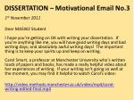 dissertation motivational email no 3