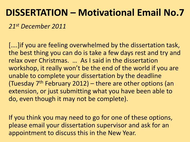 DISSERTATION – Motivational Email