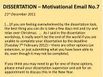 dissertation motivational email no 7