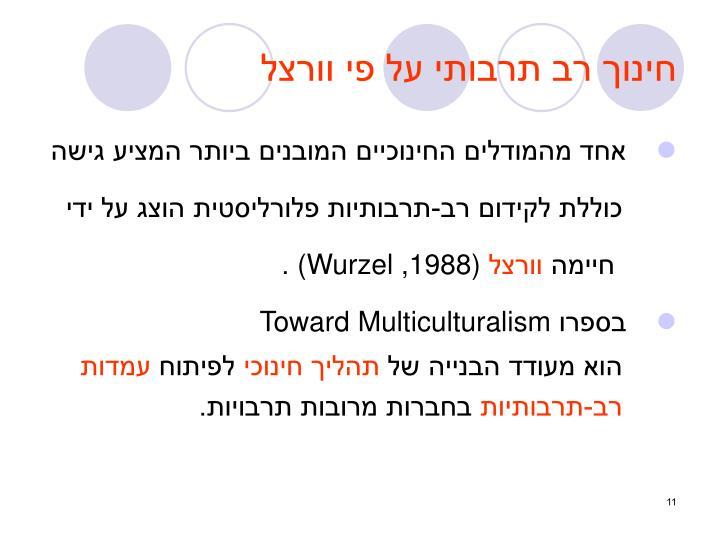 חינוך רב תרבותי על פי וורצל