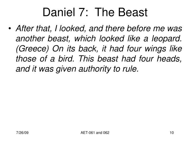 Daniel 7:  The Beast