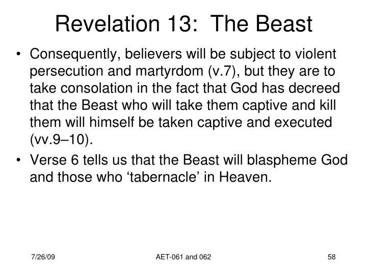 Revelation 13:  The Beast