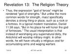 revelation 13 the religion theory20