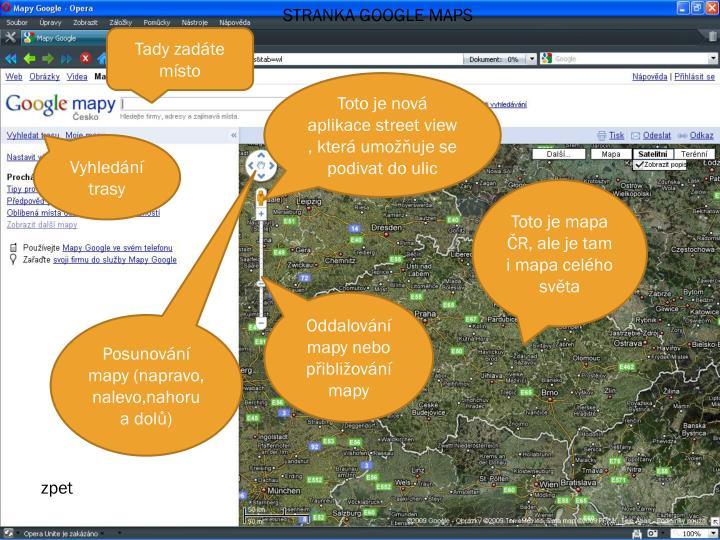 STRANKA GOOGLE MAPS
