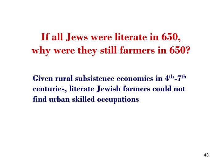 If all Jews were literate in 650,