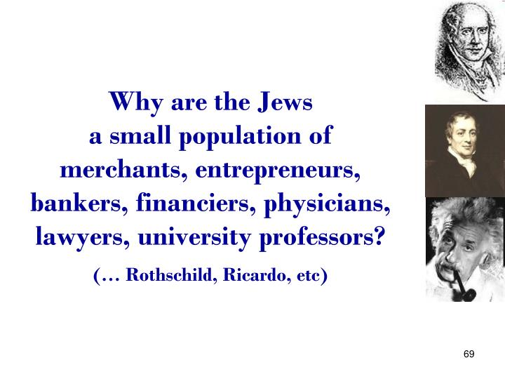 Why are the Jews                        a small population of