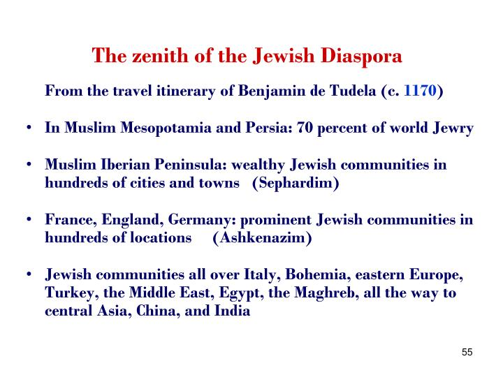 The zenith of the Jewish Diaspora