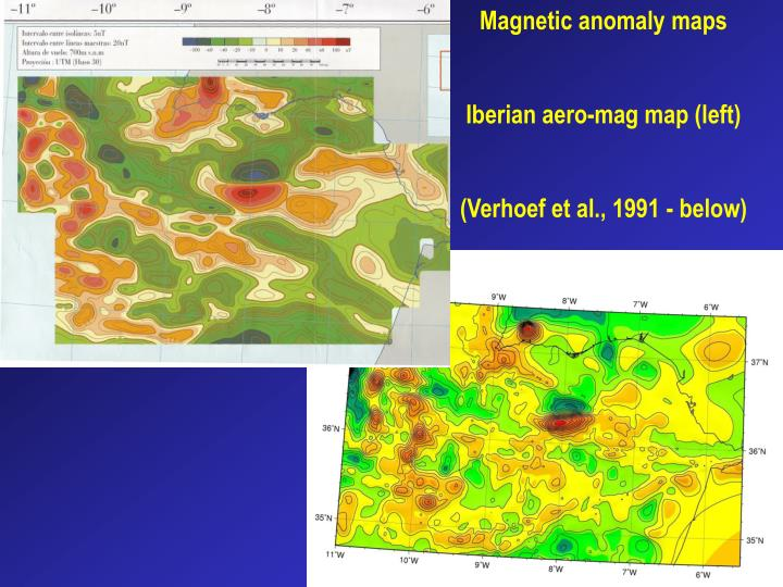 Magnetic anomaly maps