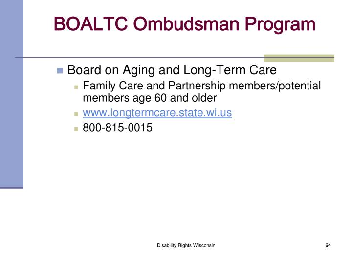 Board on Aging and Long-Term Care