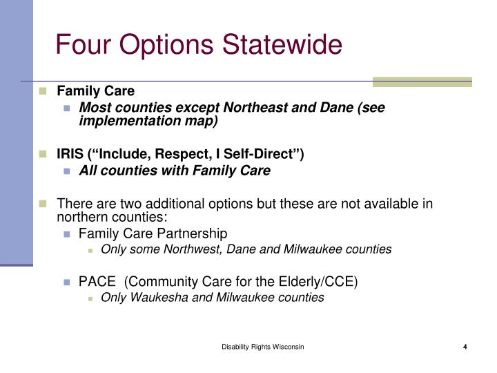Four Options Statewide