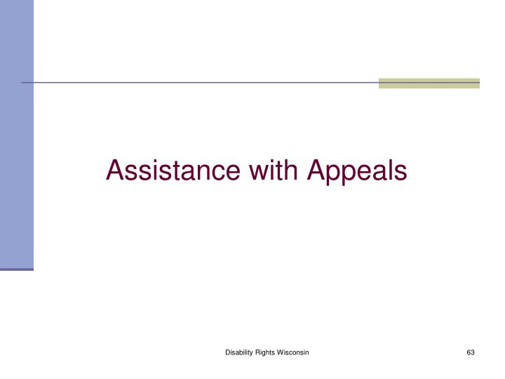 Assistance with Appeals