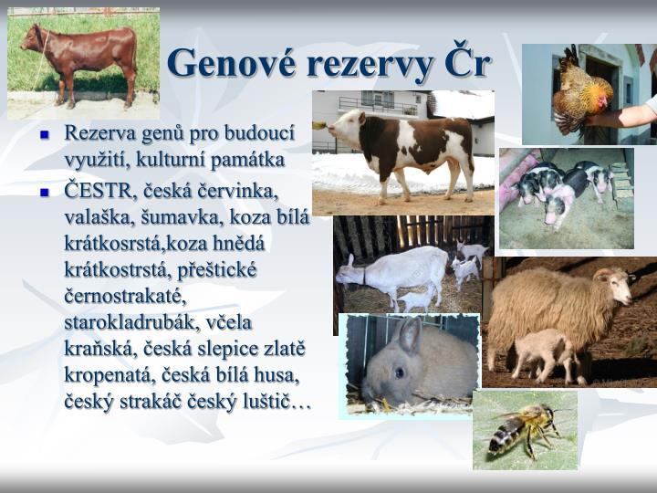 Rezerva genů pro budoucí využití, kulturní památka