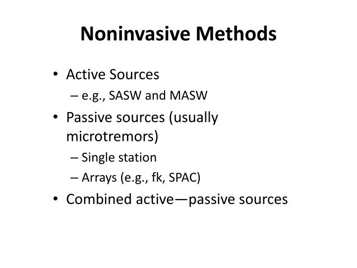 Noninvasive Methods