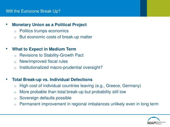 Will the Eurozone Break Up?