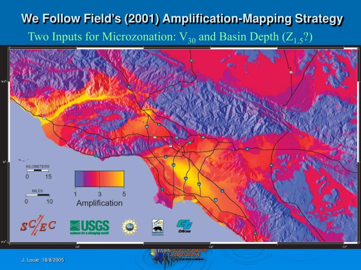 We Follow Field's (2001) Amplification-Mapping Strategy