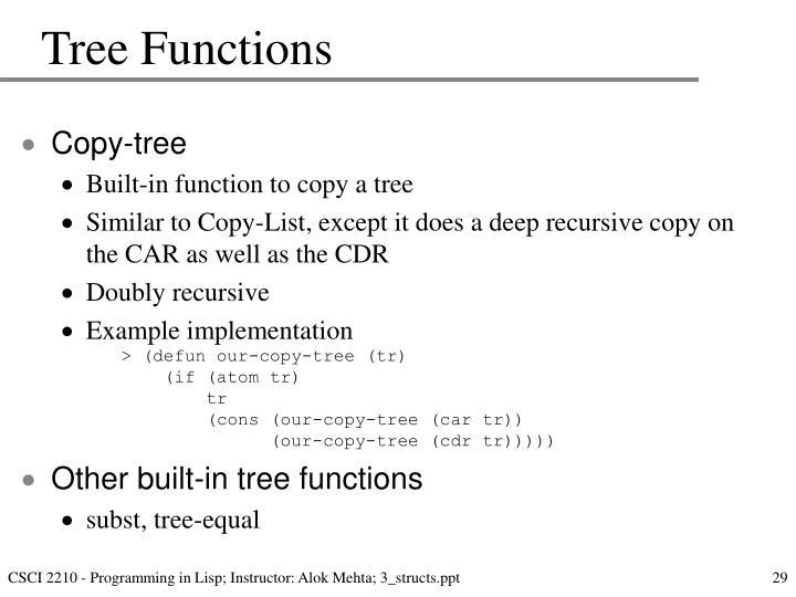 Tree Functions
