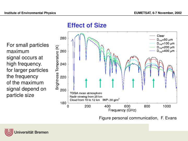 Effect of Size