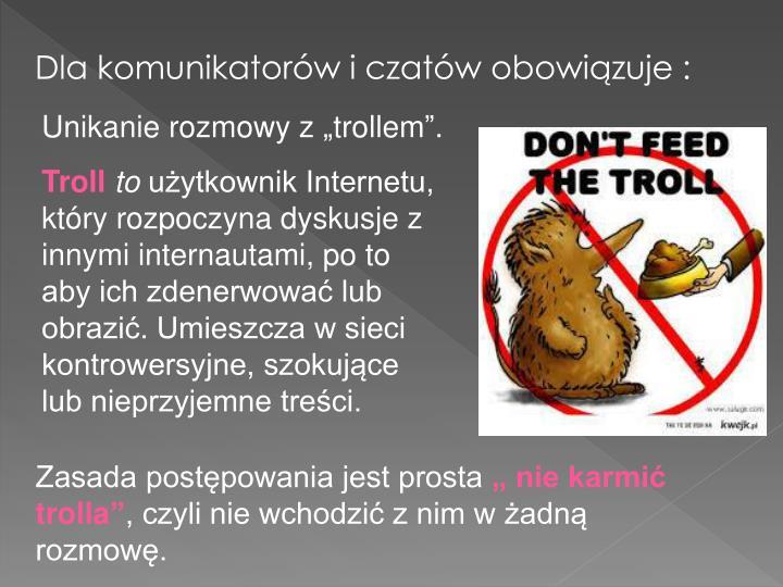 """Unikanie rozmowy z """"trollem""""."""