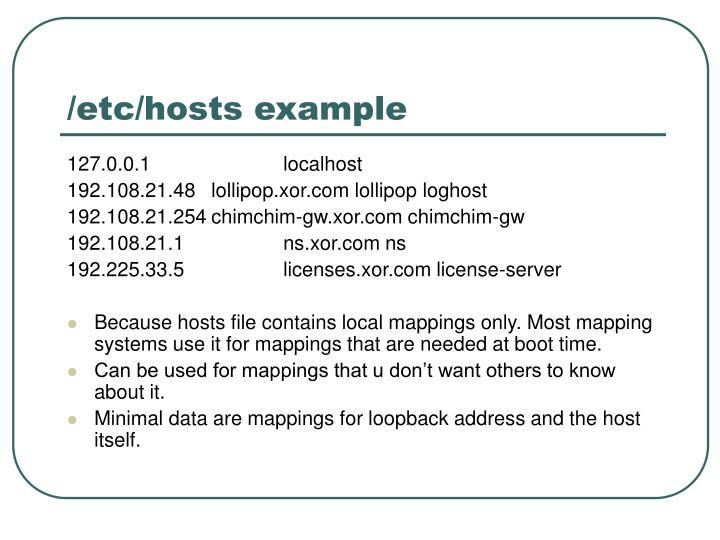 /etc/hosts example