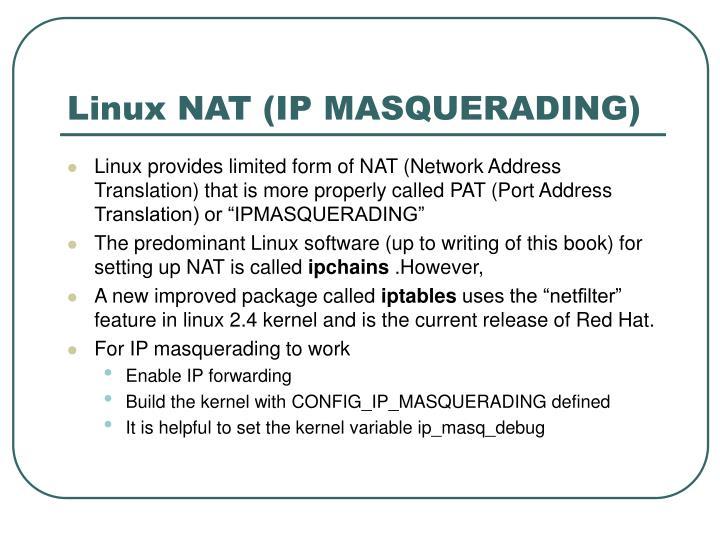 Linux NAT (IP MASQUERADING)
