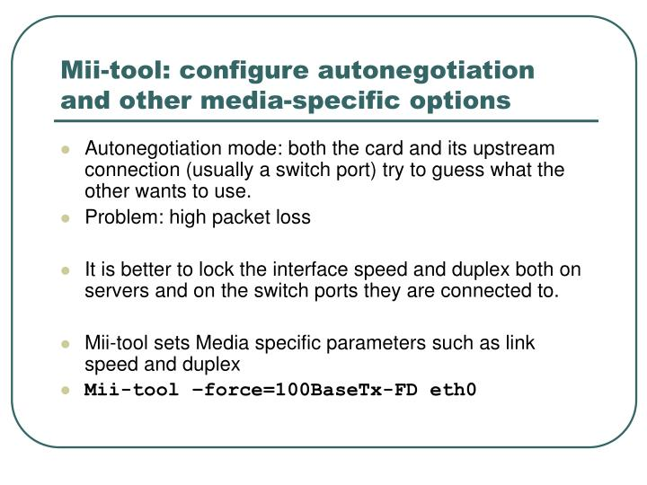 Mii-tool: configure autonegotiation and other media-specific options
