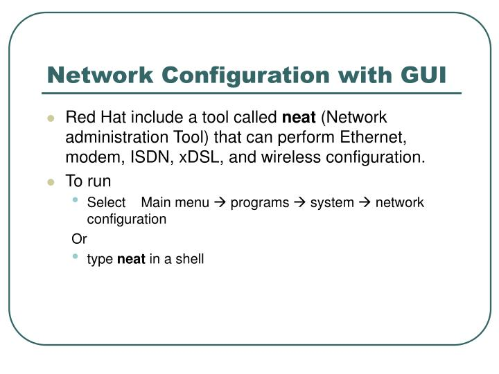 Network Configuration with GUI