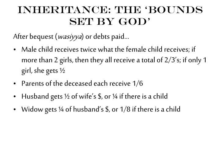 Inheritance: the 'bounds set by God'