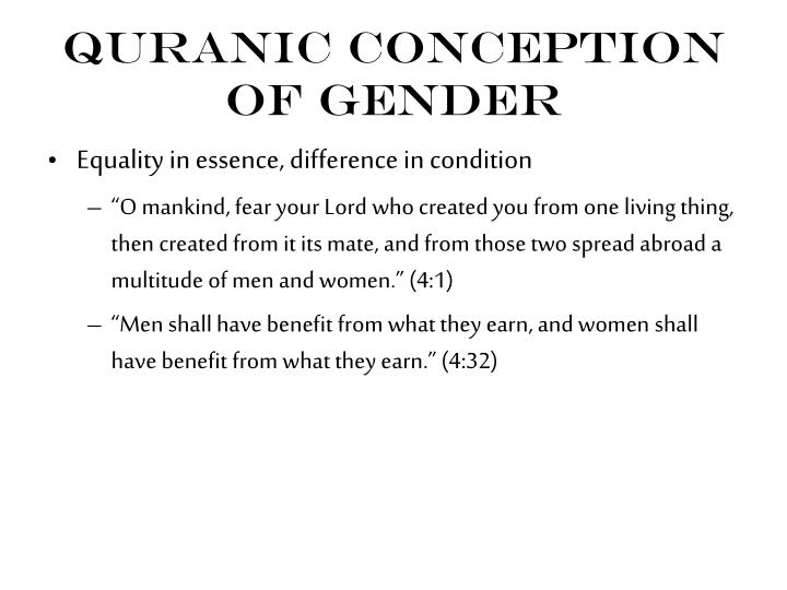 Quranic Conception of Gender