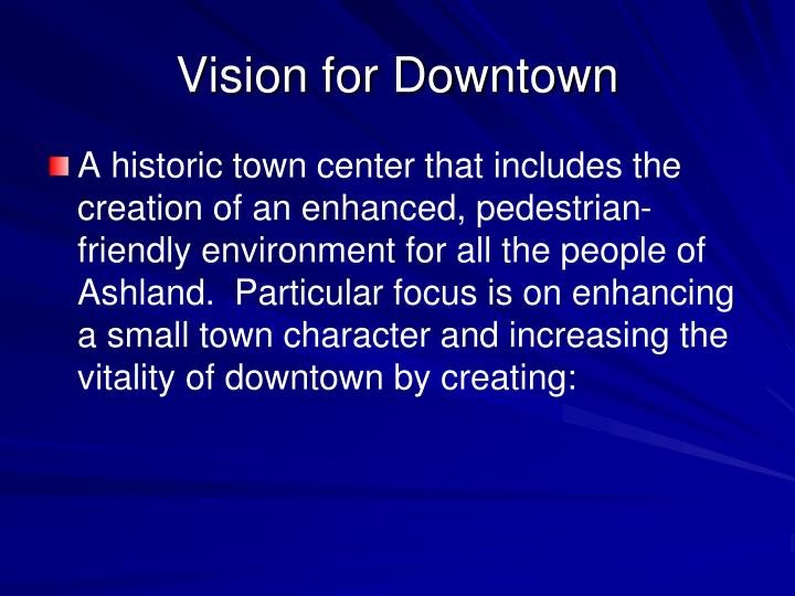 Vision for Downtown