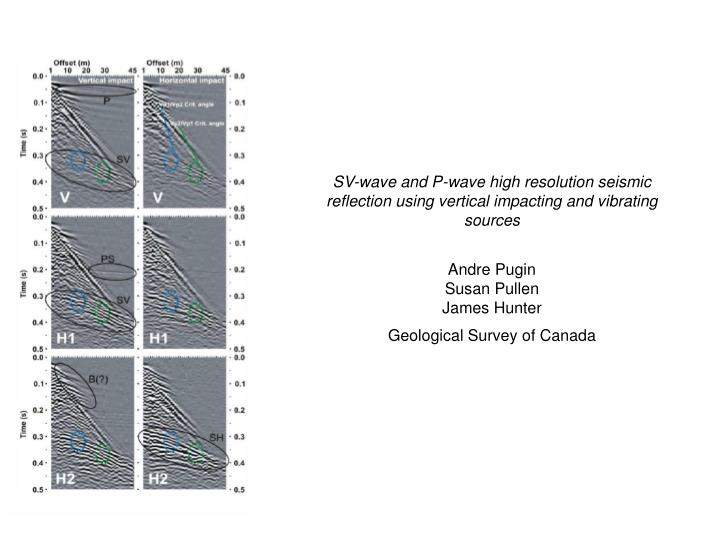 SV-wave and P-wave high resolution seismic reflection using vertical impacting and vibrating sources