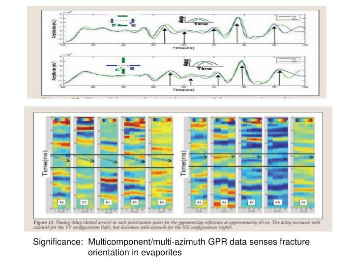 Significance:  Multicomponent/multi-azimuth GPR data senses fracture                 orientation in evaporites