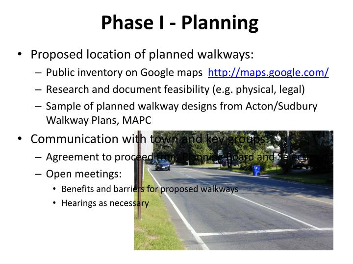 Phase I - Planning