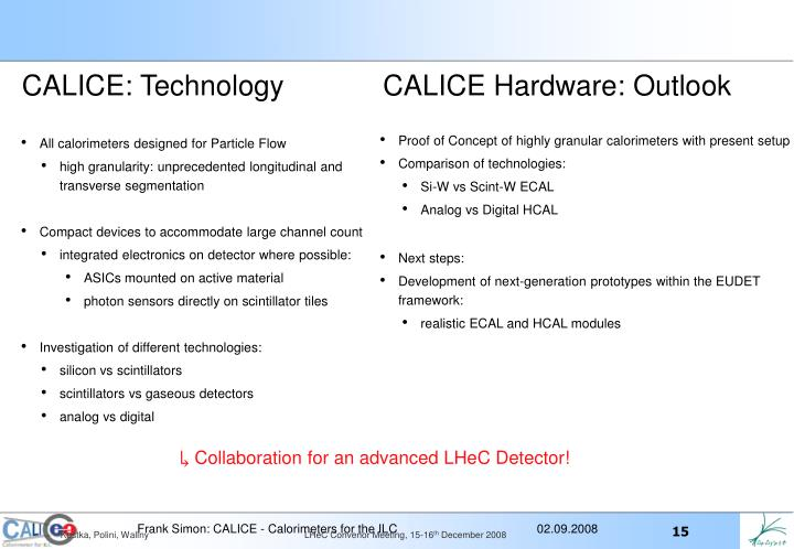 CALICE: Technology