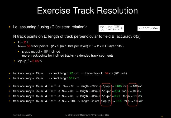 Exercise Track Resolution